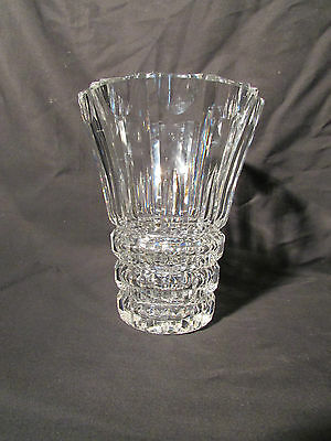 Elegant Cut French Crystal  St Louis Crystal Vase Cut Scalloped Pattern Med. 8""