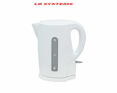 New 1.7 Litre 2200W Cordless Fast Boil Electric Jug Kettle Washable Filter White