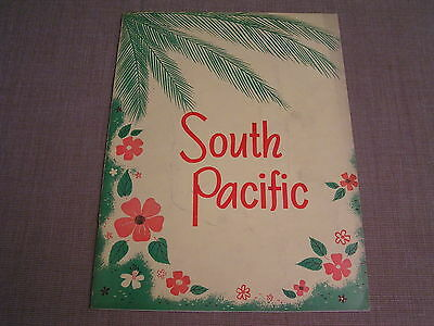 Early 1950's Vintage South Pacific Musical Play Souvenir Photo Program Magazine