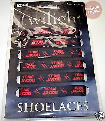 TWILIGHT =Team Jacob BLACK FAT SHOELACES= NEW shoelace