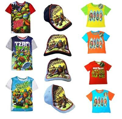 Boys Teenage Mutant Ninja Turtles Kids Baseball Summer Caps T-Shirts Age 3-10