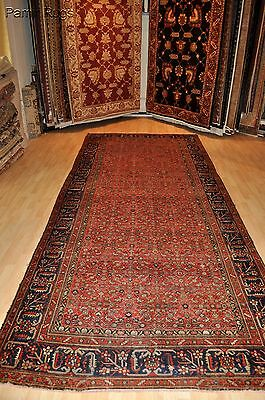 Antique Persian Hall-runner 16' Long Malayer large Vintage authentic pre 1900