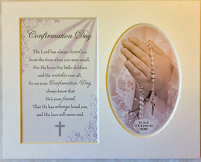 Confirmation Day Keepsake Photo Frame Mount by Prelude