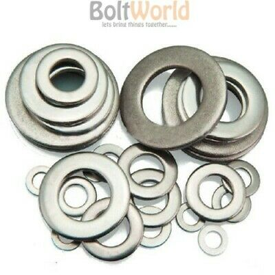 A4 Marine Grade Stainless Steel Form A Washers Thick Washer To Fit Bolts Screws