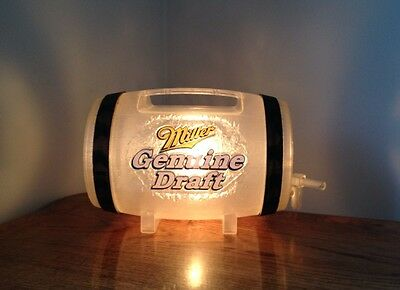 Vintage MGD Miller Genuine Draft Beer Light Sign Novelty Keg Barrel