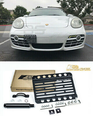 EOS Plate For 05-12 Porsche Boxster 987 Front Bumper Tow Hook License Bracket