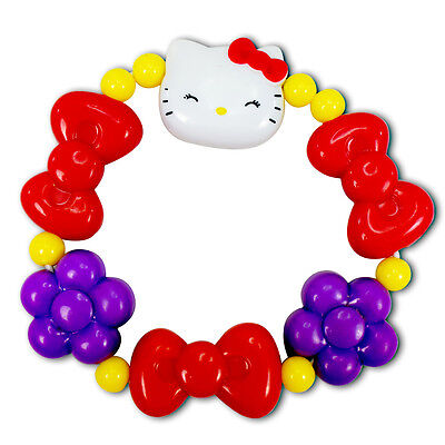 Sanrio Hello Kitty Smiling Face Red Bow Purple Flower Bracelets New Cute
