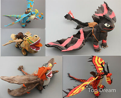 How to Train Your Dragon Toothless Night Fury Plush Soft Toy Doll 5 Styles New