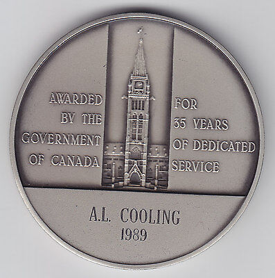 Service Silver Medal Awarded to A.L. Cooling by Government of Canada #3