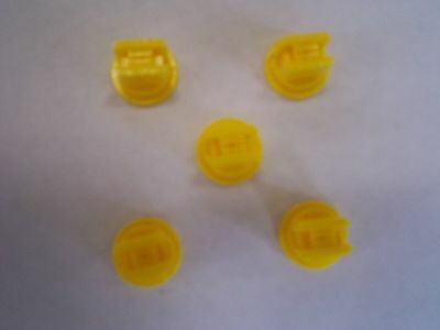 Pack of 5 Yellow Standard Fan Nozzle Tips 110 Degrees, Sprayer, Spray