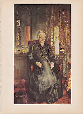"1939 Vintage /""PORTRAIT OF MY MOTHER/"" by WHISTLER MOM Color Art Plate Lithograph"