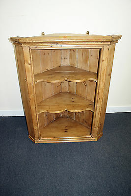 LOVELY 19th CENTURY PINE CORNER CABINET CUPBOARD VICTORIAN ANTIQUE OLD