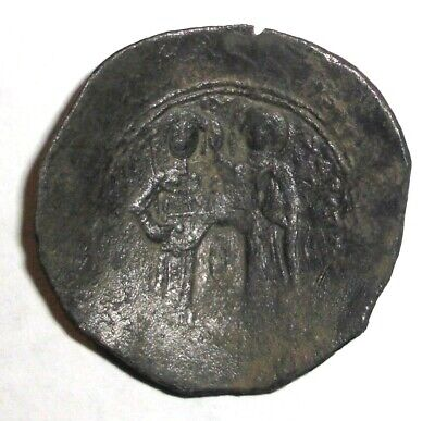 Ancient Byzantine Empire, Manuel I. Comnenos. 1143 AD. Bronze Cup coin