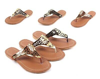 Gold Cute Kids Sandals Rhinestone Girls Flats Youth Casual Shoes Size 11