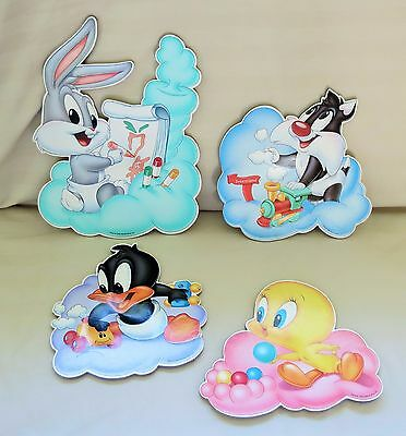 1998 Warner Bros. Baby Bugs Bunny, Sylvester, Tweety & Daffy Wall Decor