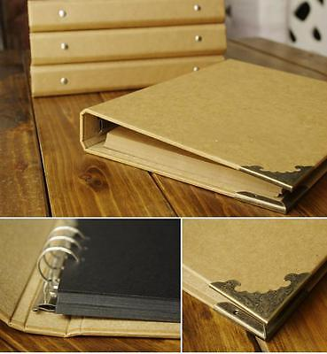 Blank Kraft 6-ring Binder DIY Scrapbook Photo Album Instax Polaroid Album