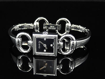 1275537f5cc GUCCI YA120503 TORNABUONI Collection Diamond Stainless Steel Watch ...