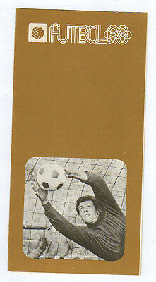 Orig.PRG / Guide   Olympic Games MEXICO 1968  -  FOOTBALL  !!  VERY RARE