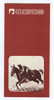 Orig.PRG / Guide   Olympic Games MEXICO 1968  -  EQUESTRIAN  !!  VERY RARE