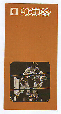 Orig.PRG / Guide   Olympic Games MEXICO 1968 - BOXING  !!  VERY RARE