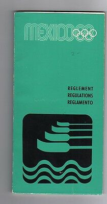 Orig.PRG / Regulations   Olympic Games MEXICO 1968 - ROWING  !!  VERY RARE