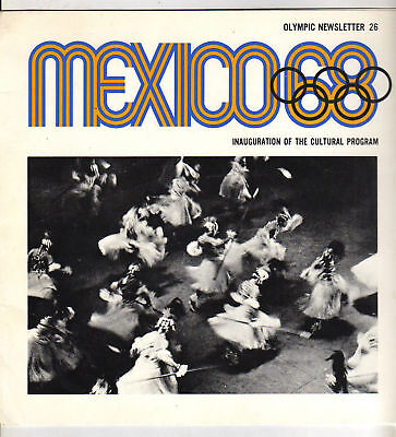 Olympic News   Olympic Games MEXICO 1968 - CULTURAL PRG  !!  RARE