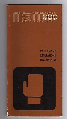 Orig.PRG / Regulations   Olympic Games MEXICO 1968 - BOXING  !!  VERY RARE