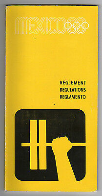 Orig.PRG / Regulations  Olympic Games MEXICO 1968 - WEIGHTLIFTING  !!  VERY RARE