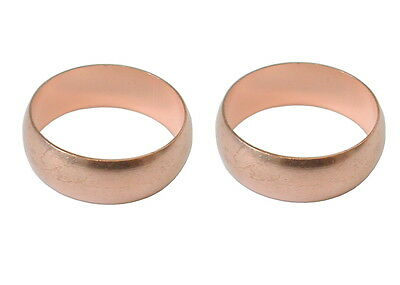 """3/4"""" Imperial Olives (2 Pack) Converts Metric 22mm Compression Plumbing Fittings"""