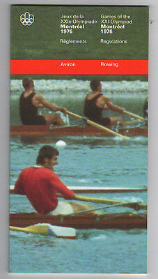 Orig.PRG / Rules / Regulations    Olympic Games MONTREAL 1976 - ROWING  !!  RARE