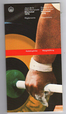 Orig.PRG / Rules / Regulations  Olympic Games MONTREAL 1976 - WEIGHTLIFTING  !!