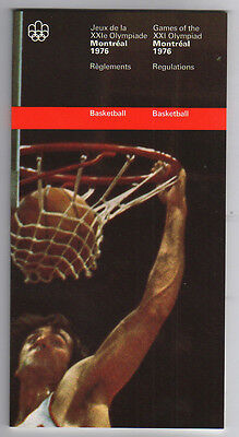 Orig.PRG / Rules / Regulations    Olympic Games MONTREAL 1976 - BASKETBALL  !!