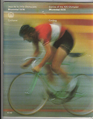 Orig.Complete PRG    Olympic Games MONTREAL 1976  -  CYCLING  !!    VERY RARE