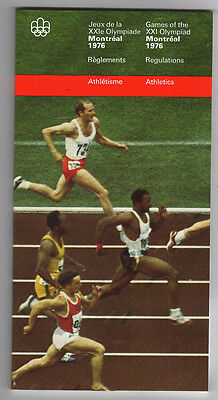Orig.PRG / Rules / Regulations    Olympic Games MONTREAL 1976 - ATHLETICS  !!