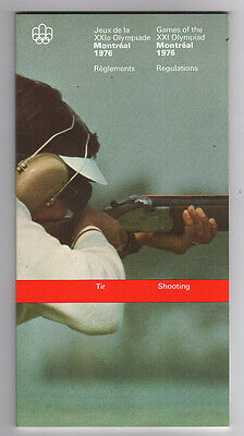 Orig.PRG / Rules / Regulations  Olympic Games MONTREAL 1976 - SHOOTING  !!  RARE