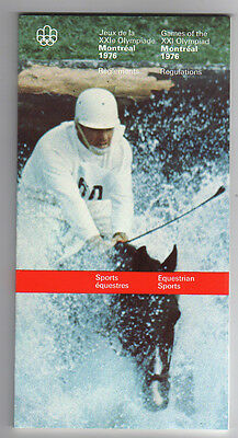 Orig.PRG / Rules / Regulations  Olympic Games MONTREAL 1976 - EQUESTRIAN !  RARE