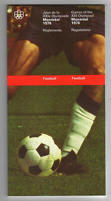 Orig.PRG / Rules / Regulations  Olympic Games MONTREAL 1976 - FOOTBALL  !!  RARE