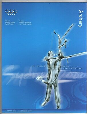 Orig.Complete PRG      Olympic Games SYDNEY 2000  -  ARCHERY  !!      RARE