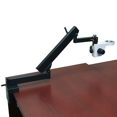 Multi-arm Articulating Stand with Clamp for Stereo Microscope 76mm Focusing Rack