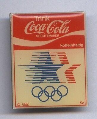 Original PIN    Olympic Games LOS ANGELES 1984  /  Official Logo + Coca Cola  !!