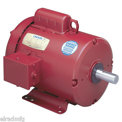 Leeson 110086.00 M6C17Fb11J 1/2 Hp 1725 Rpm Electric Motor 1-Ph 115/208-230 V