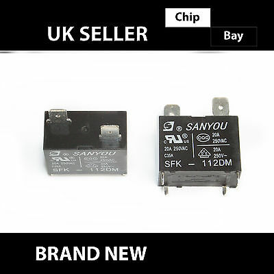 Ultra-Miniature Pc Board Type Power Relay 12V Dc 20A Sanyou Sfk-112Dm