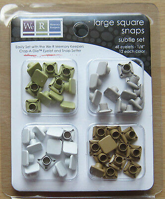 We R Memory Keepers Large SQUARE SNAPS Subtle Set #70053-1