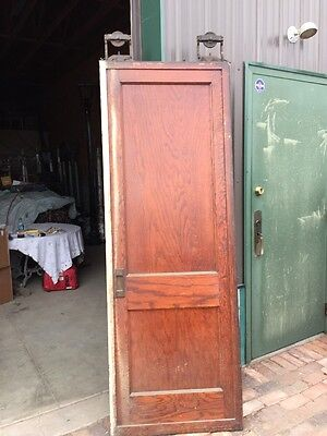 R D One Antique Oak 2 Panel Single Pocket Door