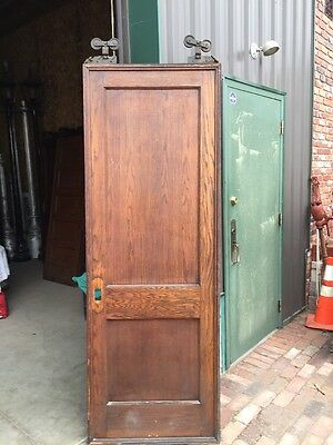 Rd 8 Antique Oak 2 Panel Pocket Door