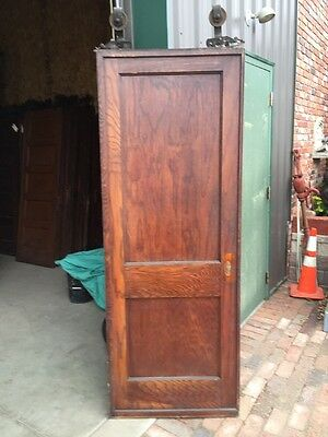 R D 13 Antique Oak Single 2 Panel Pocket Door
