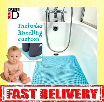 Clevamama Full Length Extra Long Anti Non Slip Bath Mat And Kneeling Cushion