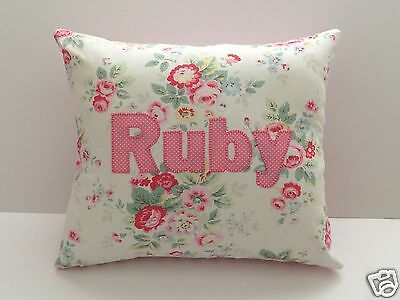 Girls CATH KIDSTON FABRIC Personalised CUSHION incl PAD -T Floral- Made To Order