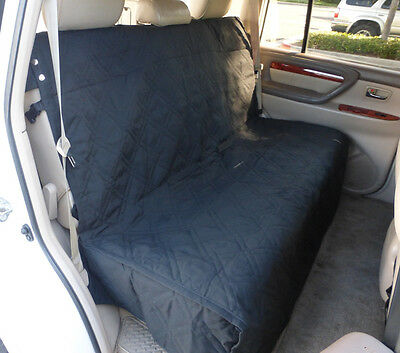 """Deluxe Quilted and Padded Back Seat Bench cover - One size fits all 56""""W Black"""