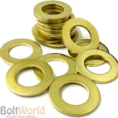M10 / 10mm SOLID BRASS FLAT WASHERS FORM A THICK WASHER FOR BOLTS SCREWS BW